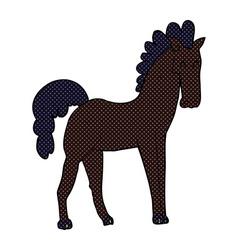comic cartoon horse vector image