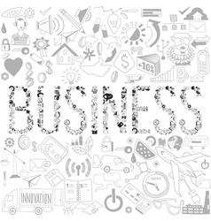Decorative elements of the word business Business vector image