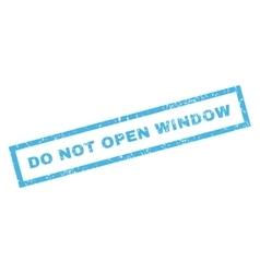 Do Not Open Window Rubber Stamp vector