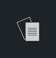 Document icon simple vector