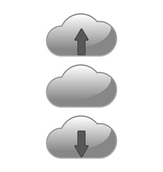 download upload cloud vector image