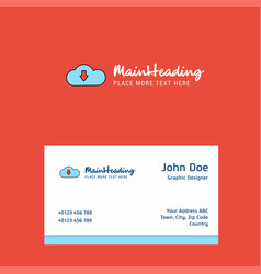 downloading logo design with business card vector image