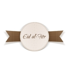 Eid al-Fitr holiday paper Tag vector image
