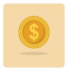 Flat icon dollar coin vector