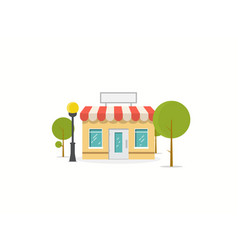flat store vector image