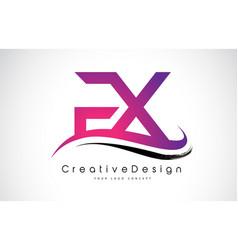 Fx f x letter logo design creative icon modern vector