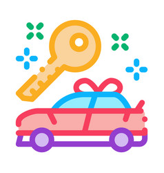 gift car icon outline vector image