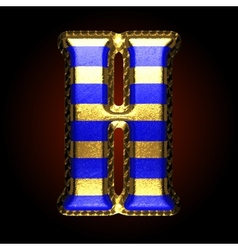 golden and blue letter h vector image