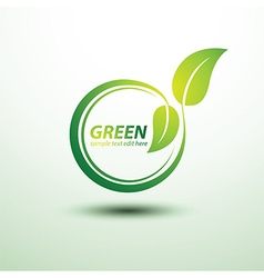 Green label vector image