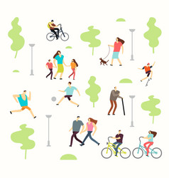 happy active people in various lifestyles in vector image