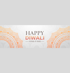 Happy diwali traditional indian lights hindu vector