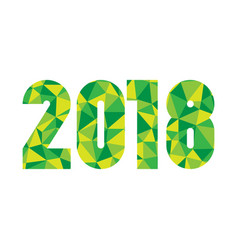 happy new year 2018 modern design element low vector image