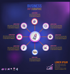 infographic for business template presentation vector image
