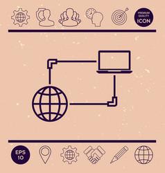 internet connection data exchange transfer vector image