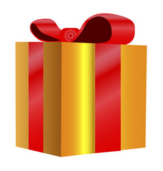 isolated present vector image