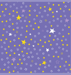 lilac seamless pattern with stars vector image