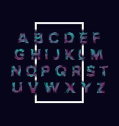 line wave alphabet letters set trendy font style vector image