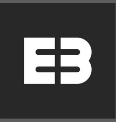 Logo eb initials modern monogram stylish bold vector
