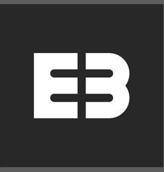 Logo initials modern monogram stylish bold vector