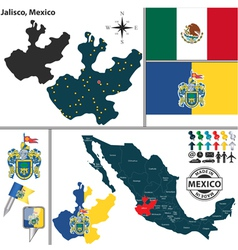 Map of Jalisco vector image