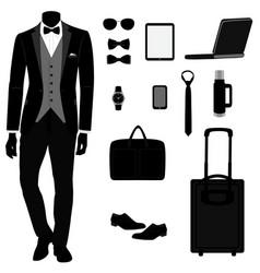 Men s tuxedo men s accessories vector