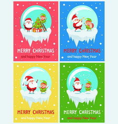 merry christmas funny moments vector image