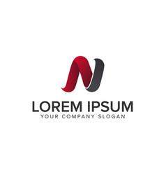 modern letter n logo design concept template vector image