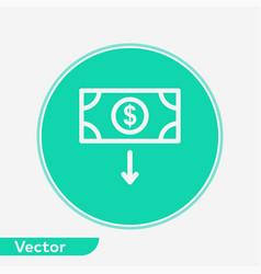 money icon sign symbol vector image