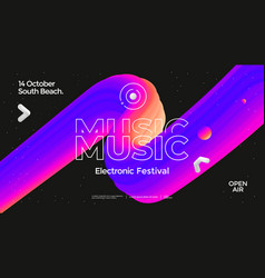 Music wave poster design electronic sound vector