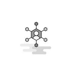 network web icon flat line filled gray icon vector image