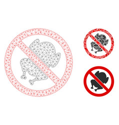 No chicken mesh wire frame model and vector
