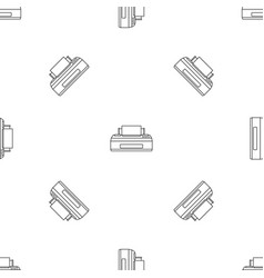 Old printer pattern seamless vector
