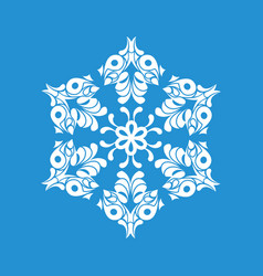 Paper snowflake icon simple style vector