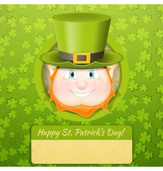Patricks Day Retro Card vector image
