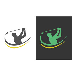 people golf logo vector image