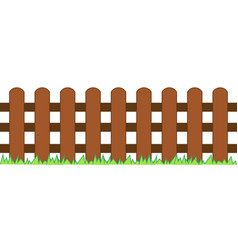Picket fence wooden textured vector
