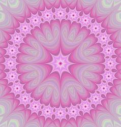 Pink girly mandala fractal design background vector