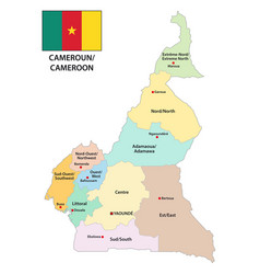 Republic of cameroon administrative and political vector