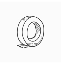 Roll of adhesive tape sketch icon vector image