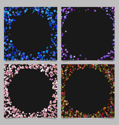 Round border background design set with dots vector