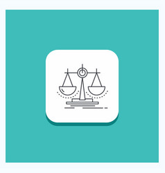 Round button for balance decision justice law vector