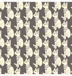 Seamless pattern of egyptian cats vector image