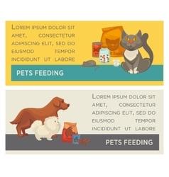 set horizontal banners pet care vet clinic vector image