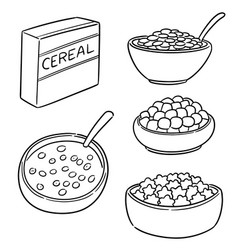 set of cereal vector image