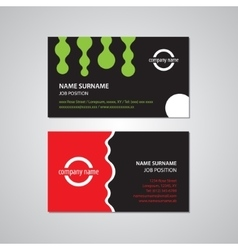 Set of two business cards - USA standard vector