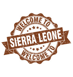 sierra leone round ribbon seal vector image