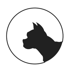 Silhouette of a dog head french bulldog vector