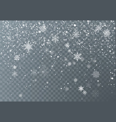 snowfall christmas snow falling snowflakes on vector image