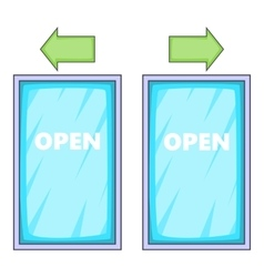 Storefront icon cartoon style vector