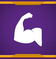 Strong arm icon for web and mobile vector